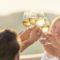 Group of friends raise glasses of white wine. Reinvigorating Marlborough Sauvignon Blanc